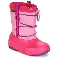 Zapatos Niña Botas de nieve Crocs Swiftwater waterproof boot Party / Pink