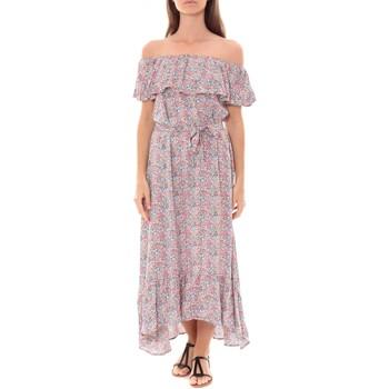 textil Mujer Vestidos largos By La Vitrine Robe Longue Care  of you Fleuri Rose F50035 Rosa