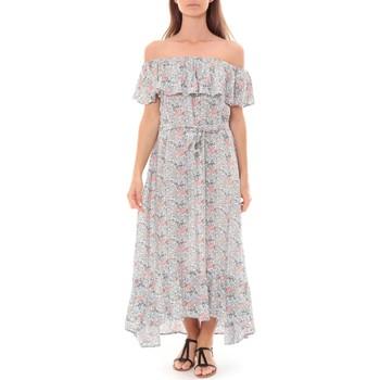 textil Mujer Vestidos largos By La Vitrine Robe Longue Care  of you Fleuri Bleu F50035 Azul