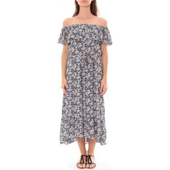 textil Mujer Vestidos largos By La Vitrine Robe Longue Care  of you Fleuri Noir F50035 Negro