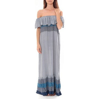 textil Mujer Vestidos largos By La Vitrine Robe Longue Care  of you  Bleu F50055 Azul