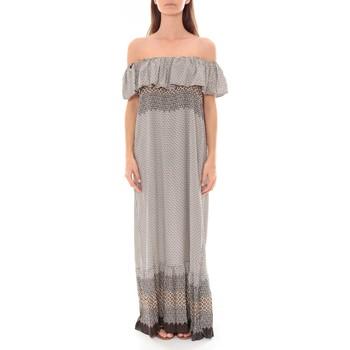 textil Mujer Vestidos largos By La Vitrine Robe Longue Care  of you Noir F50055 Negro