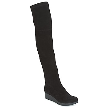 Zapatos Mujer Botas a la rodilla Robert Clergerie Natun-VELOURS-STRETCH-NOIR Negro
