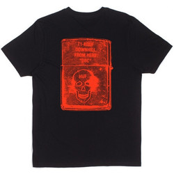 textil Hombre camisetas manga corta Huf Camiseta  Slow Burner Black Red multicolor
