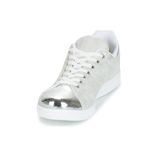 Zapatos Zapatillas Bajas Yurban Mujer GrisPlata Hettane mnO80vNw