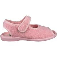 Zapatos Niños Pantuflas para bebé Vulladi TOALLA ÑAK VELCRO ROSA