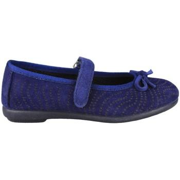 Zapatos Niños Bailarinas-manoletinas Vulladi SERRAJE MANOLETINA VELCRO AZUL