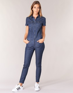 textil Mujer Monos / Petos G-Star Raw TACOMA SLIM JUMPSUIT WMN SS Envejecido