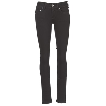 textil Mujer vaqueros rectos G-Star Raw MIDGE SADDLE MID STRAIGHT Negro