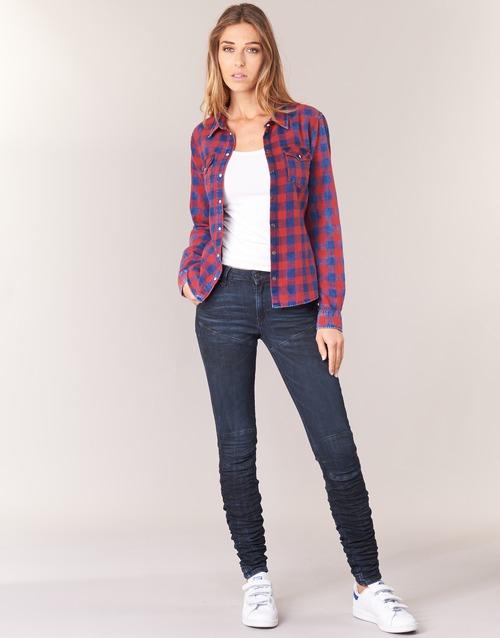 Marino Slim Staq Raw 5620 3d Skinny G star Textil Mid Vaqueros Mujer Wmn jR54AL