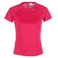 textil Mujer camisetas manga corta adidas Performance D2M TEE LOSE Rosa
