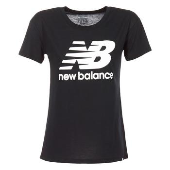 textil Mujer camisetas manga corta New Balance NB LOGO T Negro / Blanco