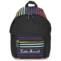 Bolsos Mujer Mochila Little Marcel SATURNIN Negro / Multicolor