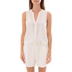 textil Mujer Monos / Petos LPB Woman Les Petites bombes Combi Short  Dentelle Blanc  S175703 Blanco