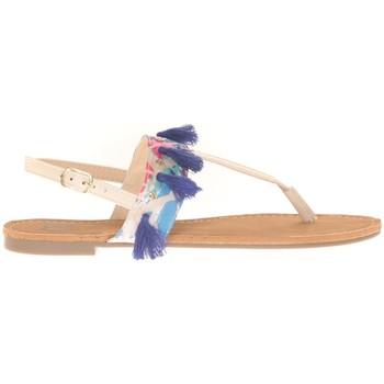 Zapatos Mujer Sandalias Cassis Côte d'Azur Ella entre doigt bridées et Pompons Beige Beige