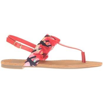 Zapatos Mujer Sandalias Cassis Côte d'Azur Ella entre doigt bridées et Pompons Red Rojo