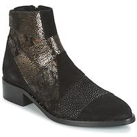 Zapatos Mujer Botas de caña baja Philippe Morvan SILKO V1 CR VEL NOIR Negro