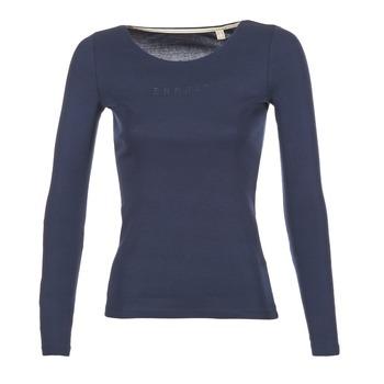 textil Mujer Camisetas manga larga Esprit GIMUL Marino