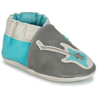 Zapatos Niño Pantuflas para bebé Robeez SUPERSTAR ROCK Azul / Gris