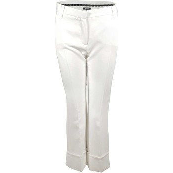 textil Mujer pantalones chinos Denny Rose 73DR12007 Trousers Mujeres Bianco Bianco