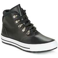 Zapatos Mujer Zapatillas altas Converse CHUCK TAYLOR ALL STAR EMBER BOOT SMOOTH LEATHER HI BLACK/BLACK/W Negro / Blanco