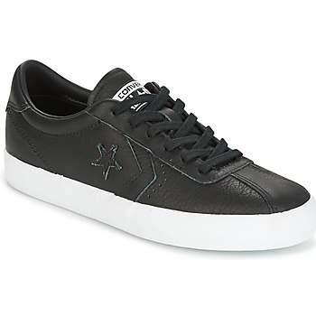 Zapatos Mujer Zapatillas bajas Converse BREAKPOINT FOUNDATIONAL LEATHER OX BLACK/BLACK/WHITE Negro / Blanco