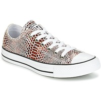 Zapatos Mujer Zapatillas bajas Converse CHUCK TAYLOR ALL STAR FASHION SNAKE OX BROWN/BLACK/WHITE Negro / Blanco