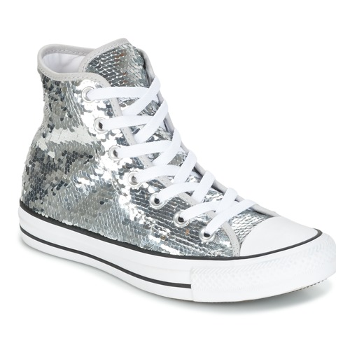 Converse - CHUCK TAYLOR ALL STAR SEQUINS HI SILVER/WHITE/BLACK