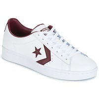Zapatos Hombre Zapatillas bajas Converse PL 76 FOUNDATIONAL LEATHER WITH ELEVATED DETAILING OX WHITE/DEEP Blanco / Burdeo