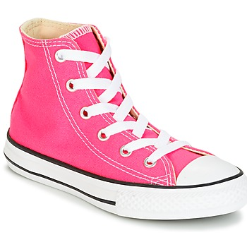Zapatos Niña Zapatillas altas Converse CHUCK TAYLOR ALL STAR SEASONAL HI PINK POW Rosa