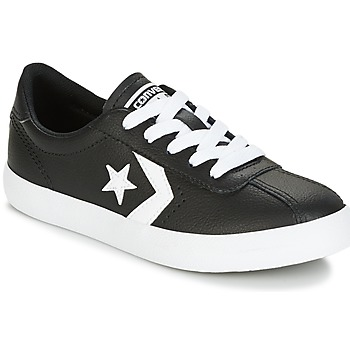 Zapatos Niños Zapatillas bajas Converse BREAKPOINT FOUNDATIONAL LEATHER BP OX BLACK/WHITE/BLACK Negro / Blanco
