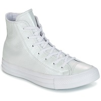 Zapatos Mujer Zapatillas altas Converse CHUCK TAYLOR ALL STAR IRIDESCENT LEATHER HI IRIDESCENT LEATHER H Blanco