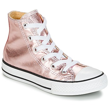 Zapatos Niña Zapatillas altas Converse CHUCK TAYLOR ALL STAR METALLIC SEASONAL HI METALLIC SEASONAL HI Rosa / Blanco / Negro