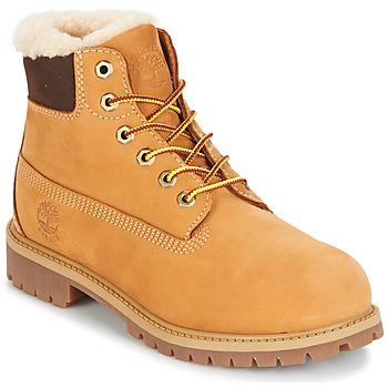 Zapatos Niños Botas de caña baja Timberland 6 IN PRMWPSHEARLING LINED Camel