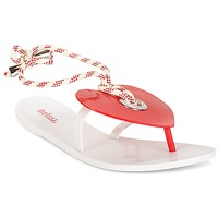 Zapatos Mujer Chanclas Melissa BLISS II SP AD Blanco / Rojo