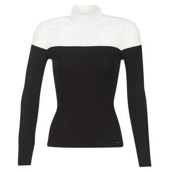 textil Mujer jerséis Morgan MICO Negro / Blanco