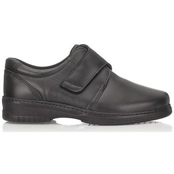 Zapatos Hombre Mocasín Pinosos VELCRO NEGRO ESPECIAL DIABETICO NEGRO