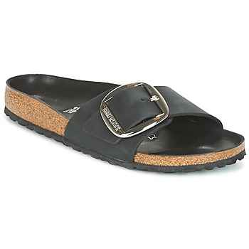 Zapatos Mujer Zuecos (Mules) Birkenstock MADRID BIG BUCKLE Negro / Mat