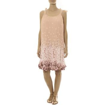 textil Mujer Vestidos cortos By La Vitrine Robe Rose Care of you Imprimée Fleurs F50113 Rosa
