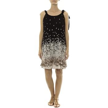 textil Mujer Vestidos cortos By La Vitrine Robe Noir Care of you Imprimée Fleurs F50113 Negro