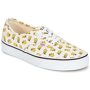Zapatos Zapatillas bajas Vans AUTHENTIC SNOOPY Blanco / Amarillo