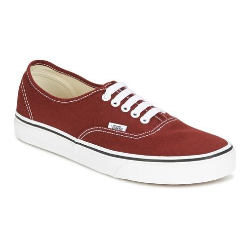 Zapatos especiales para hombres y mujeres Vans AUTHENTIC Rojo