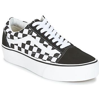 Zapatos Mujer Zapatillas bajas Vans UA OLD SKOOL PLATFORM Negro / Blanco