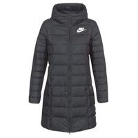 textil Mujer plumas Nike DOWN FILL PARKA Negro / Blanco