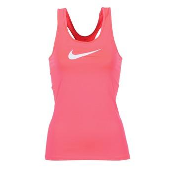 textil Mujer camisetas sin mangas Nike NIKE PRO COOL TANK Rosa / Blanco