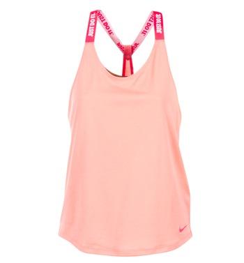 textil Mujer camisetas sin mangas Nike NIKE DRY TANK ELASTIKA Rosa / Rojo