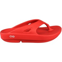 Zapatos Chanclas Oofos OORIGINAL ROJO