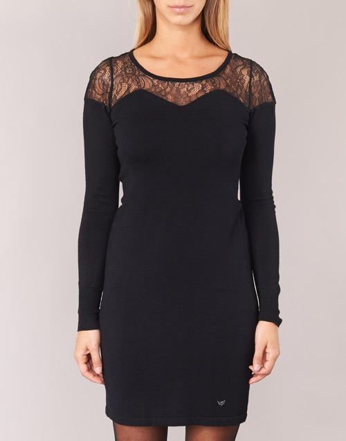 Mujer Vestidos Darto Woman Lpb Negro Cortos Textil zqVSMpU