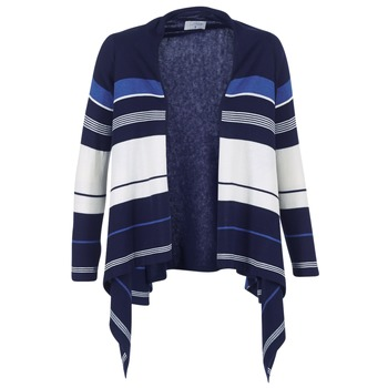 textil Mujer Chaquetas de punto Casual Attitude HARINE Marino / Blanco