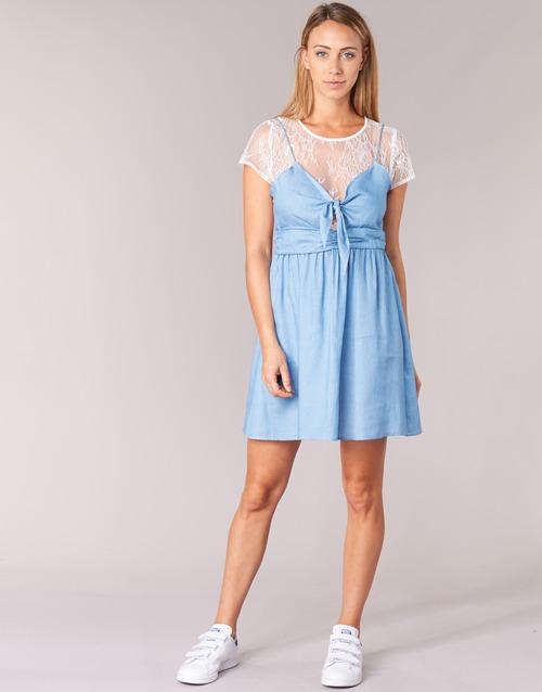 Moony Glam Cortos Mood Textil Mujer Azul Vestidos 8Pnk0wXO